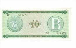 Billet CUBA 10 Pesos Serie B NEUF - Cuba