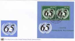 United Nations FDC Block 28 - 65th Anniversary Cancellation Vienna - 2010 - FDC