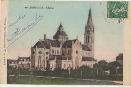 CPA 35 JANZE Eglise Carte Colorisée 1908 - France