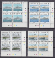 St. Helena 1992 Liberation Of The Falkland Islands 4v Bl Of 4 (corners)  ** Mnh (20762) - Sint-Helena
