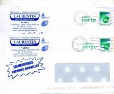 Pap Feuille Verte Flamme Muette Poste 41847A Entet Chauffage Climatisation Laurentin Juillan - Entiers Postaux