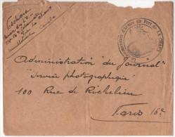 France - Lettre Enveloppe 1915 Cachet Militaire Le COMMANDANT D'ARMES Du FORT De LA CHAUX Montbeliard Doubs - Postmark Collection (Covers)