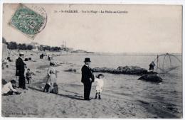Saint Nazaire Pêche Carrelet Plage Animation 1906 état Superbe - Saint Nazaire