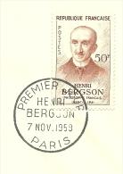 FDC Philosophe Henri Bergsson 7/11/1959 Yvert 1225 - FDC