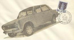 `Salon De L' Automobile Paris, 12/10/1974   Yvert 1351A Niort - Auto's