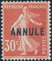 FRANCE Cours D´instr. 1923 - Yv. 160-CI 1 * TB Variété  Cote= 16,50 EUR - ANNULE S. 30c Type Semeuse ..Réf.FRA16636 - Instructional Courses