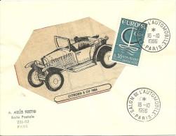 Salon De L' Automobile Paris, 16/10/1966   Yvert 1490 Europa Citroen 5 CV 1924 - Auto's