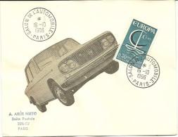 Salon De L' Automobile Paris, 16/10/1966   Yvert 1490 Europa - Auto's
