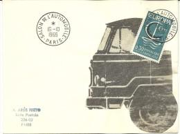 Salon De L' Automobile Paris, 16/10/1966   Yvert 1490 Europa - Vrachtwagens
