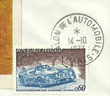 Salon De L' Automobile Paris, 14/10/1973   Yvert Lemans Et Landesmuseum Munster - Auto's