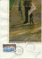 Salon De L' Automobile Paris, 14/10/1973   Yvert 1761 24 Heures Du Mans, Max Slevogt: Papageienmann 1901 - Auto's