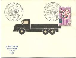 FDC La Prevention Routieres, 24/2/1968, Yvert 1548 - Vrachtwagens