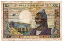 Intéressant Billet De 1000 FRANCS Pour Le MALI - Non Daté ( 1970) - Mali