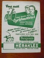 Buvard HERAKLES  CONCOURS BENJAMIN. Années 50 TBon Etat CYCLOMOTEUR Arliguie ENFANTS JEUX CAHIERS - Papeterie