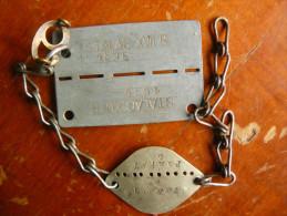 LOT Stalag Plaque Identite XVIIA XVIIB Kaisersteinbruch D´un Belge De Saint Sauveur Belgique Cartes Photo,photo,art, - Belgio