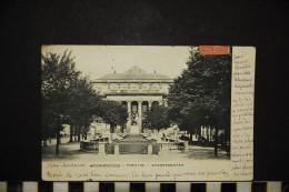 CP, 67, STRASBOURG Théâtre Stadttheater Dos Simple Voyagé En 1909 - Strasbourg