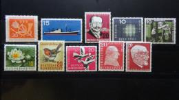 Germany - 1957 - Mi:254,257,266-7,271,274-8**MNH - Look Scan - [7] République Fédérale