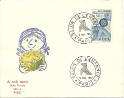 Salon De L'enfance Paris 6/11/1967 Yvert 1490 Europa - Kindertijd & Jeugd