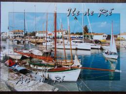 17 - ILE De RÉ - ARS En RÉ - Le Port Et Le Clocher - Les Bâteaux De Pêche Et De Plaisance. - Ile De Ré