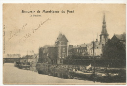 Souvenir De Marchienne Du Pont La Sambre Peniche Batellerie  Edit Nels Serie5 No 3  Timbrée 1901 Vers Hesdin - Belgique