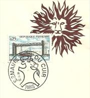 Semaine Internationale Du CUIR  Yvert 1564 Pont  De Martrou; Armoires De Ville Auch - Bruggen