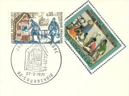 Journee Du Timbre, Courbevoie 27/3/1971 Taille-douce  Yvert  1671 - Christendom