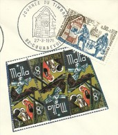 Journee Du Timbre, Courbevoie 27/3/1971 Taille-douce  Yvert  1671MALTA - Verhalen, Fabels En Legenden