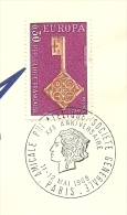 Amicale Phillatelique Societe Generale 11/5/1968 Yvert  1566  Europa - Post