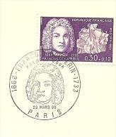 FDC Francois Couperin 1668-1933 23/3/1968 Yvert  1550 - FDC