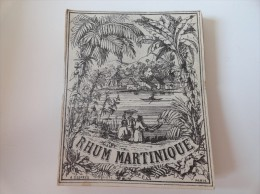 SUPERBE ILLUSTRATION SUR : RHUM MARTINIQUE( A.Desprès  Paris) 1860- 1900