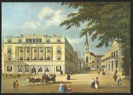 ZÜRICH Um 1840 Hotel BAUR Stich Reproduktion Paradeplatz - ZH Zurich