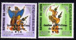 Laos P.A.  N° 69 / 70   XX Surtaxe Pour Le Soutienaux Victimes De La Guerre, Les 2 Valeurs Sans  Charnière, TB - Laos