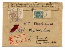 MEMELGEBIET / ESSEN - 07 mars 1923    Recommand�      (Occupation Lithuanienne)
