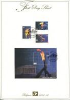 BELGIE  FIRST DAY SHEET OCB Bl114 Bl 114 + 3303-3305 Olympische Spelen - FDC