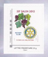 FRANCE COLLECTOR ROTARY CLUB  International VITRY LE FRANCOIS 20° Salon Vins 2012 NEUF - France
