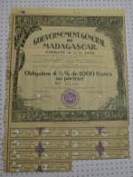 Gouvernement General De Madagascar - Banque & Assurance