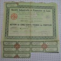 Sté Industrielle Et Financiere De Lens - Banque & Assurance