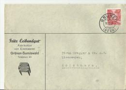 =Schweiz CV  1937 GRUNEN - Suiza