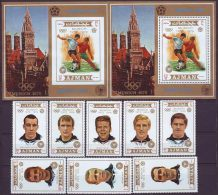 AJMAN - WM  GERMANY - SET + BL 2  - **MNH - 1972 - Coppa Del Mondo