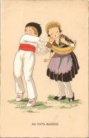 Carte Postale Au Pays Basque, Dessin Humouristique,enfant, Pelote Basque - Altri