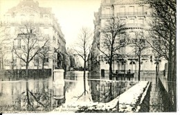 Dpt 75 Paris Inondations Janvier 1910 Square Et Rue Jean Goujon N°26 - Frankreich