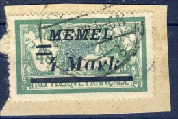 ##K1197. Memel 1922. Michel 91. Cancelled On Fragment. - Usati