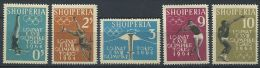 119 ALBANIE 1962 - Sport JO Tokyo 1964 (Yvert 576/80) Neuf ** (MNH) Sans Charniere - Albania