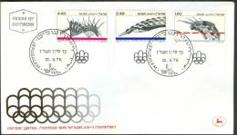 Israel FDC - 1976, Philex Nr. 672-674,  Mint Condition - FDC