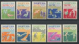 119 ALBANIE 1964 - Sport JO Tokyo (Yvert 707/16) Neuf ** (MNH) Sans Charniere - Albania