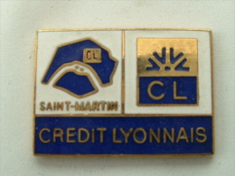 Pin´s CREDIT LYONNAIS - SAINT MARTIN PARIS - Banks