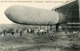 90  BELFORT CENTRE AERONAUTIQUE LE DIRIGEABLE CONTE SORTANT DU HANGAR - Belfort - Ville