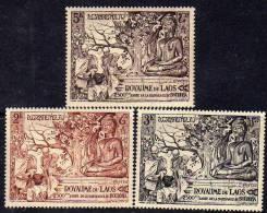 Laos N° 30 / 32 XX  2500ème Anniversaire De La Naissance De Bouddha Les 3 Valeurs  Sans Charnière, TB - Laos