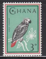 Ghana MNH Scott #195 3p Gray Parrot - Birds - Ghana (1957-...)