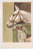 1930s ART DECO POSTCARD - HORSE & DOG - GREYHOUND - EDIT CECAMI 1123 ( B ) - Illustratoren & Fotografen